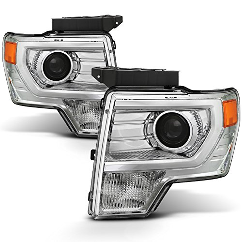 - For [HALOGEN UPGRADE] 2009-2014 Ford F-150 F150 Light Duty Pickup Truck Chrome Clear Projector Headlights Pair Set