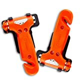 Zone Tech 2-Pack Car Safety Antiskid Hammer - Dual Steel Small Emergency Class/Window Punch Breaker Auto Rescue Disaster Escape Life-Saving Hammer Tool