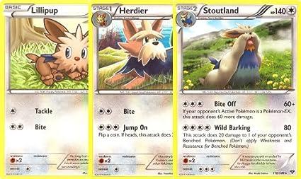 Amazon.com: stoutland, herdier, y Lillipup – Rare Pokemon ...