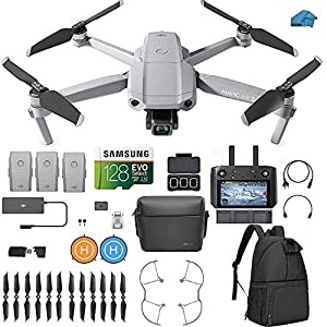 DJI Mavic Air 2 Fly More Combo with DJI Smart Controller – Drone Quadcopter UAV with 48MP Camera, 3 batteries, Case…