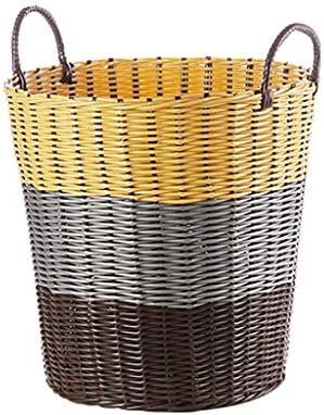 SMEJS Große Baumwolle Seil Korb Lagerung mit Griffen - Chevron Grey Woven Spielzeug Ablagekorb for Wäschekorb, Windeln, Kindergarten, Spielzeug, Handtücher (Color : A, Size : 30 * 40 * 35cm)