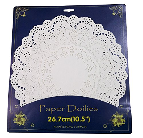 108 Pieces White Paper Doilies,Lace Paper Round Doily Assorted Sizes covid 19 (Colored Paper Doilies coronavirus)