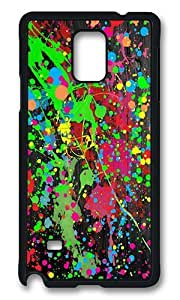 Samsung Galaxy Note 4 Case, Paint Splatter Rugged Case Cover Protector for Samsung Galaxy Note 4 N9100 Polycarbonate Plastics Hard Case Black