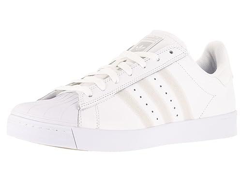 best service 6171f bc1dc adidas Men s Superstar Vulc Adv Ftwwht Ftwwht Silvmt Skate Shoe 11.5