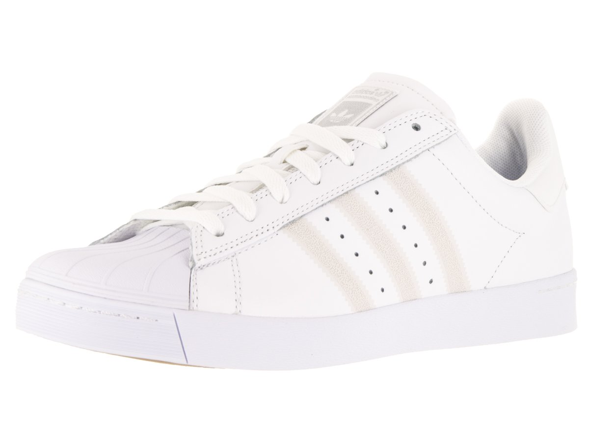 new concept 11626 5db87 Galleon - Adidas Mens Superstar Vulc Adv FtwwhtFtwwhtSilvmt Skate Shoe  9.5
