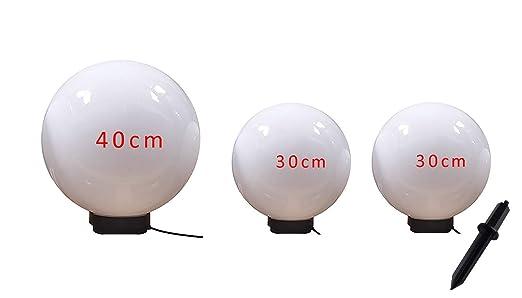 Illuminazione Esterna A Palla : Lampada da esterno set 30 30 40 cm marlon sfera lampada con