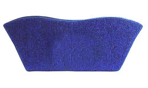 Spice Art - Cartera de mano de Seda para mujer Azul azul marino