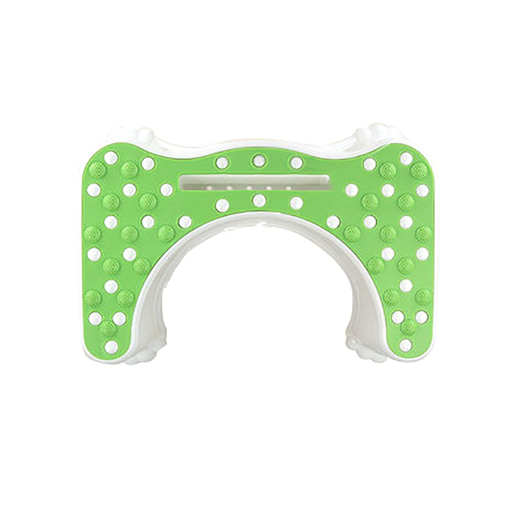 Toilet Stool Thicken Plastic Toilet Ottoman Bathroom Slip Toilet Stool Child Pregnant Woman Toilet Heighten Footstool Pit Footrest Massage Belt Mobile Blue/Pink/Green 4735.522cm (Color : Green)