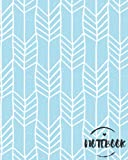 Notebook: Mint Geometric Boho Chic Journal : 8 x 10 size : Lined Journal : Perfect to write in (College Ruled Notebook) (Volume 4)