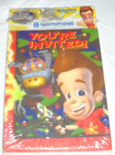 Jimmy Neutron: Boy Genius Party Invitations -