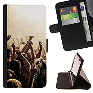 DEVIL CASE - FOR Sony Xperia Z1 Compact D5503 - Music Party Punk - Style PU Leather Case Wallet Flip Stand Flap Closure Cover