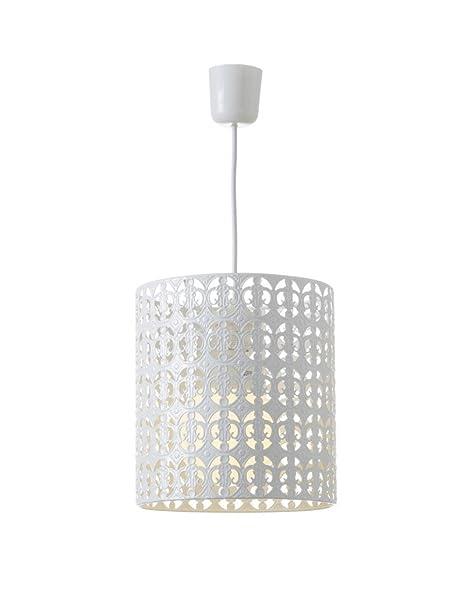 Hogar y Mas Lámpara de Techo Metal Blanco Diseño Étnico ...
