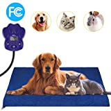 GROWUPER Pet Heating Pad, Dog Cat Electric Heating Pad Indoor Waterproof Adjustable Warming