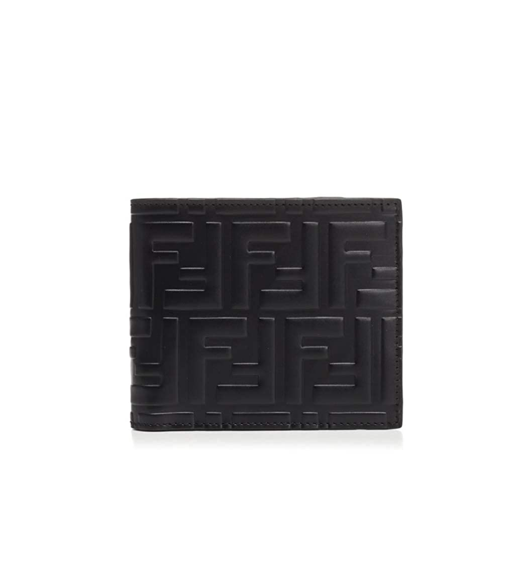 eccd9d78ca Fendi Mens Black Signature FF Bi-fold Wallet at Amazon Men's ...