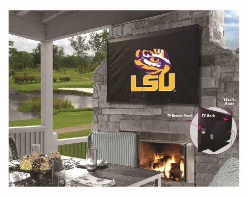 LSU Tigers HBS Black Breathable Water Resistant Vinyl TV Cover ()