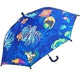 RainStoppers W104CHOCEAN Kid's Ocean Print Umbrella, 34-Inch