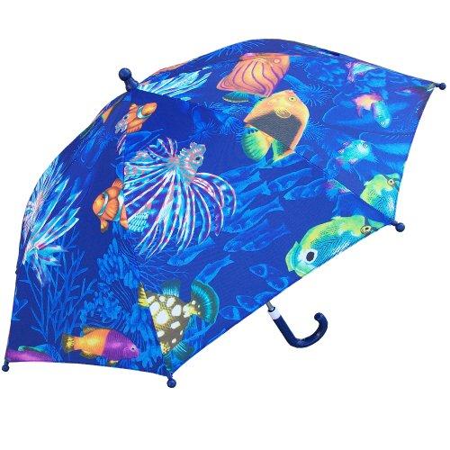 RainStoppers Kid's Ocean Print Umbrella, (Animal Print Umbrella)