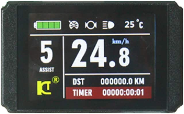 36V//48V LCD Control Panel for Ebike Bicycle Speed Time Power Temperature Display
