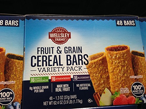 Wellsley Farms fruit & grain variety pack 48 ct. (pack of 6)
