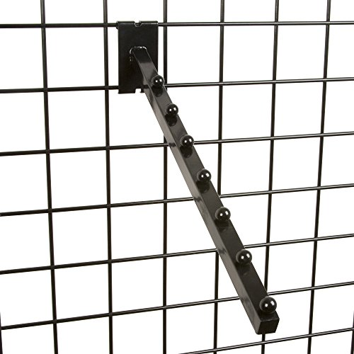 - Only Garment Racks #1925B (0) Black 6-Ball Waterfall Fadeout for Wire Grid Wall (0)