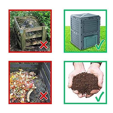 Best4Garden - Compostador, color verde jardín Compost Bin ...