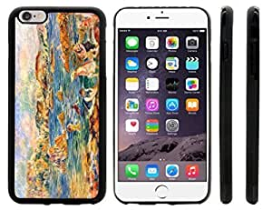 Rikki KnightTM Alfred Sisley Art At the Beach of Guernesey Design iPhone 6 Plus Case Cover (Black Rubber with front bumper protection) for Apple iPhone 6 Plus