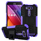 Asus Zenfone 2 Laser ZE500KL Case,Yaker Shockproof Impact Protection Tough Rugged Dual Layer Protective Case Cover with Kickstand for Asus Zenfone2 Laser 5.0 ZE500KL (Armor Purple)