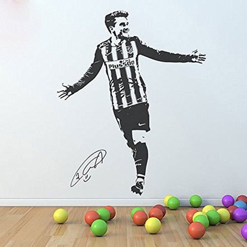 Fangeplus(TM) DIY Removable Antoine Griezmann Soccer Star Art Mural Vinyl Waterproof Wall Stickers Kids Room Decor Nursery Decal Sticker Wallpaper 27.5''x22'' by Fangeplus