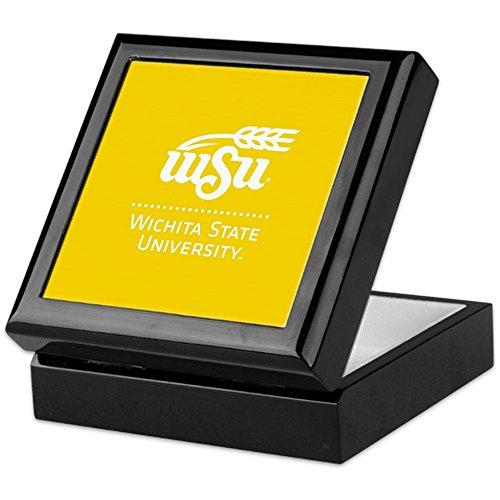 (CafePress WSU Wichita State University Keepsake Box, Finished Hardwood Jewelry Box, Velvet Lined Memento Box)