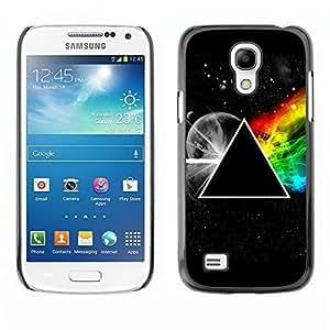 Samsung Galaxy S4Mini i9190MINI Triangle Secret Symbolics Universe Rainbow Slim negro plástico carcasa Armor TOOT0caso