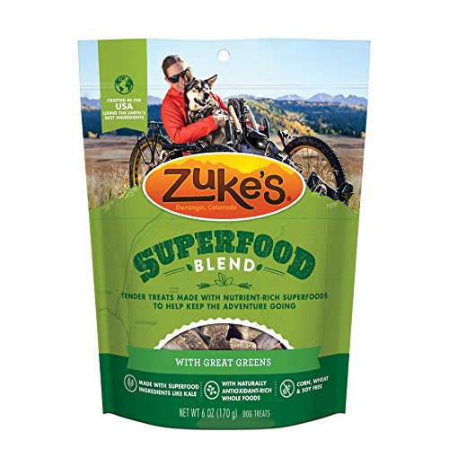 ZukeS Superfood Blend With Great Greens Dog Treats - 6 Oz. Pouch (Packaging may vary)
