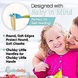 TODDLER UTENSILS BABY FORK and SPOON SET - Bonus Travel Case | Travel Safe Toddler Training Spoons | Perfect Size Toddler Forks | Perfect Self Feeding Spoon