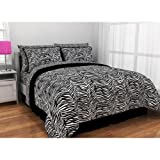 Zebra Print Complete Bed in a Bag - Size TWIN XL