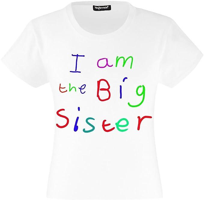 1b97c6b67 Big Sister T-Shirts Girls Kids I Am The Big Sister T Shirt Tee Top T Shirt:  Amazon.co.uk: Clothing