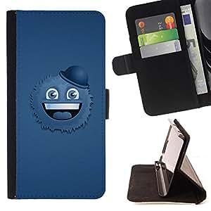 BullDog Case - FOR/HTC DESIRE 816 / - / Funny Cookie & Hat /- Monedero de cuero de la PU Llevar cubierta de la caja con el ID Credit Card Slots Flip funda de cuer