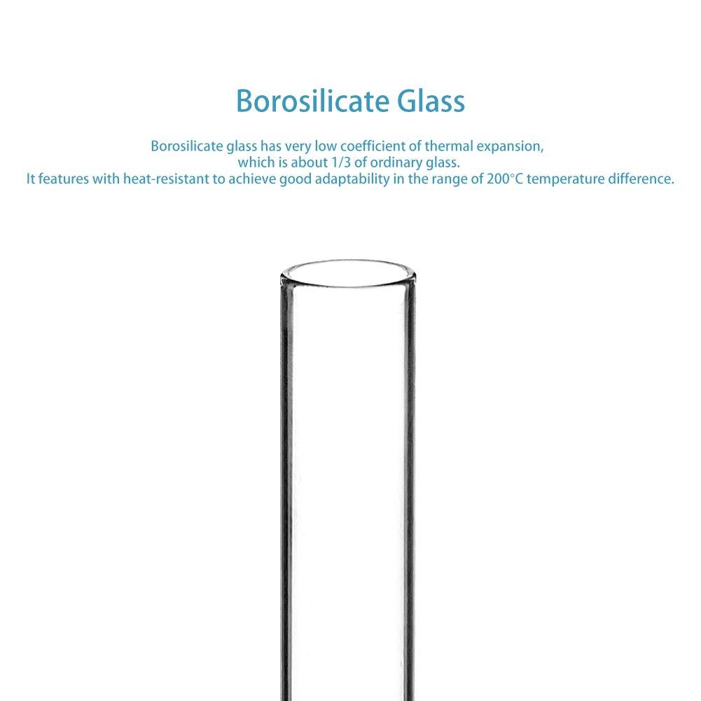 Stonylab Fond rond Tube /à essai en verre borosilicate 100 Pack 12/mm OD X 75/mm Longueur 100