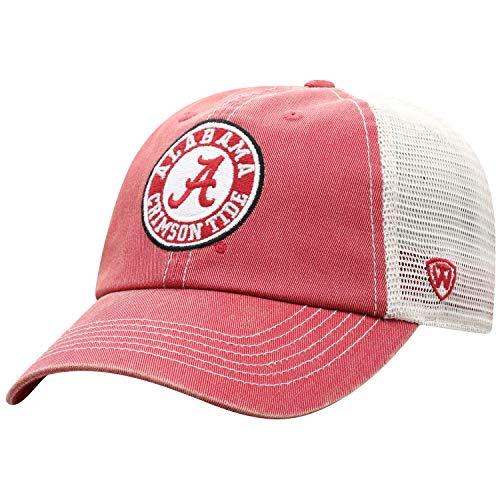 Top of the World Alabama Crimson Tide Men's Vintage Hat Icon, Crimson, Adjustable