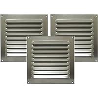 Kit 3 Grades Alumínio Itc 20x20cm C/tela Motorhome