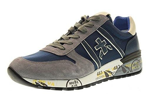 PREMIATA hombre de las zapatillas de deporte bajas LANDER 2017 talla 44 Azul