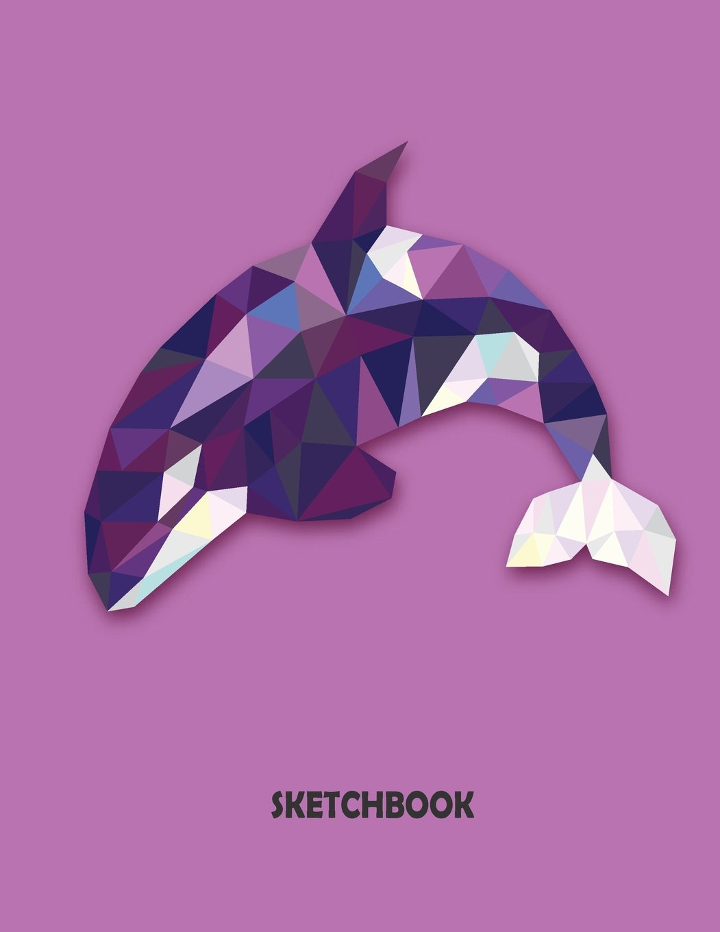Read Online Sketchbook: Graphic Crystal Whale On PurpleCover and Blank pages, Extra large (8.5 x 11) inches, 110 pages, White paper, Sketch, Draw and Paint (Volume 6) pdf epub