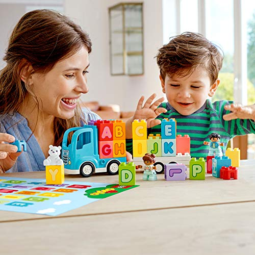 51FM9NWP YL - LEGO DUPLO My First Alphabet Truck 10915 ABC Letters Learning Toy for Toddlers, Fun Kids' Educational Building Toy, New 2020 (36 Pieces)