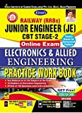 Kiran's Railway (RRBS) Junior Engineer (JE) CBT Stage-2 Online Exam Electronics & Allied Engineering Practice Work Book-English(2590)