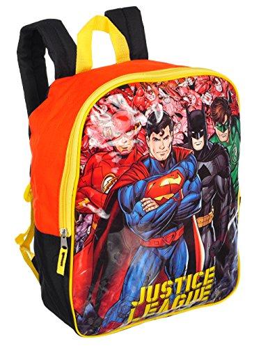 DC Comics Superman, Batman, Flash & Green Lantern Justice League 15inch Backpack ()