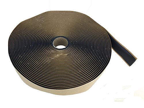 Butyl Tape 1/8'' x 1'' x 50' Black (Choose 50ft, 100ft or 400ft) by GSSI Sealants