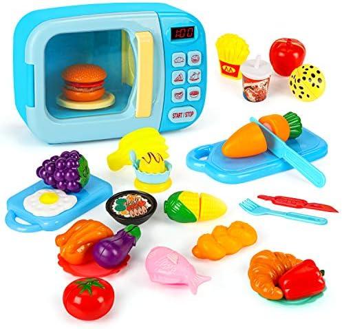 27 Pcs Microwave Kitchen Play Set, Kids Pretend...
