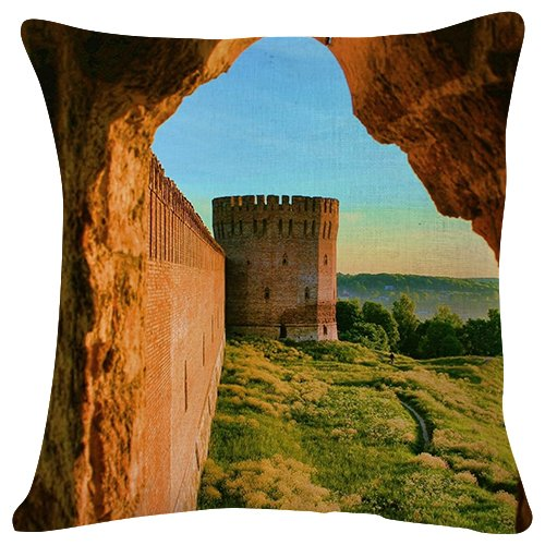 Castle Spain Stones Middle ages - Throw Pillow Case Cushion Cover for Sofa Couch Double-sided printing 18x18 Inches by PUPBEAMO
