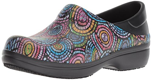 crocs Women's Neria Pro II Graphic Clog W Shoe, black/multi, W5 M US