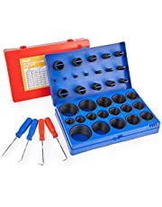 ORION MOTOR TECH 826pc Universal O Ring Assortment Kit in 32 Sizes   SAE and Metric O Ring Kit for Plumbing Automotive Faucet Repair More   Nitrile Rubber O Ring Set with Picks and Hooks
