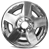 Road Ready Car Wheel For 2004-2007 Chevrolet Silverado 1500 2004-2006 Chevrolet Tahoe 17 Inch 6 Lug Gray Aluminum Rim Fits R17 Tire - Exact OEM Replacement - Full-Size Spare