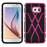 Galaxy S6 Case - [Heavy Duty] Shockproof TPU Back Cover for Samsung Galaxy S6, Hot Pink